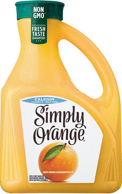 采用透明EBM PET制成的简单橙汁瓶--PRA Chinese