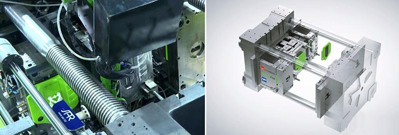 伊之密ReactPro一步成型出带局部高光聚氨酯表面的汽车发动机盖板-PRA Chinese