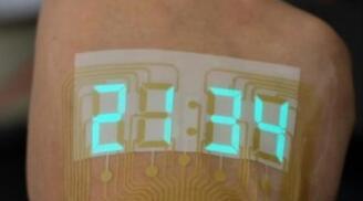 可伸缩的低电压柔性显示器